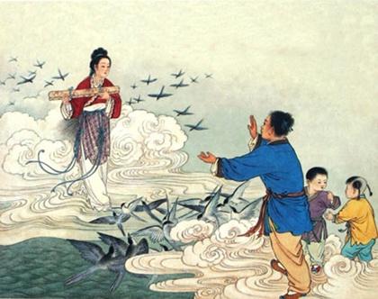 Qixi Festival - เทศกาลชีซี ตำนานหนุ่มเลี้ยงวัวกับสาวทอผ้า @ magichaijing.blogspot.com