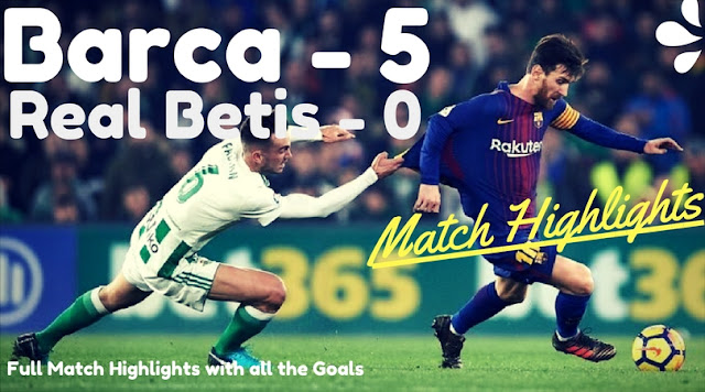FC Barcelona moved eleven points clear of second placed Atletico Madrid with the 5-0 destruction of Real Betis away from home. Rakitic opened the scoring in the 59th minute; Lionel Messi and Luis Saurez both scored twice soon after to make it yet another memorable night for Barca.