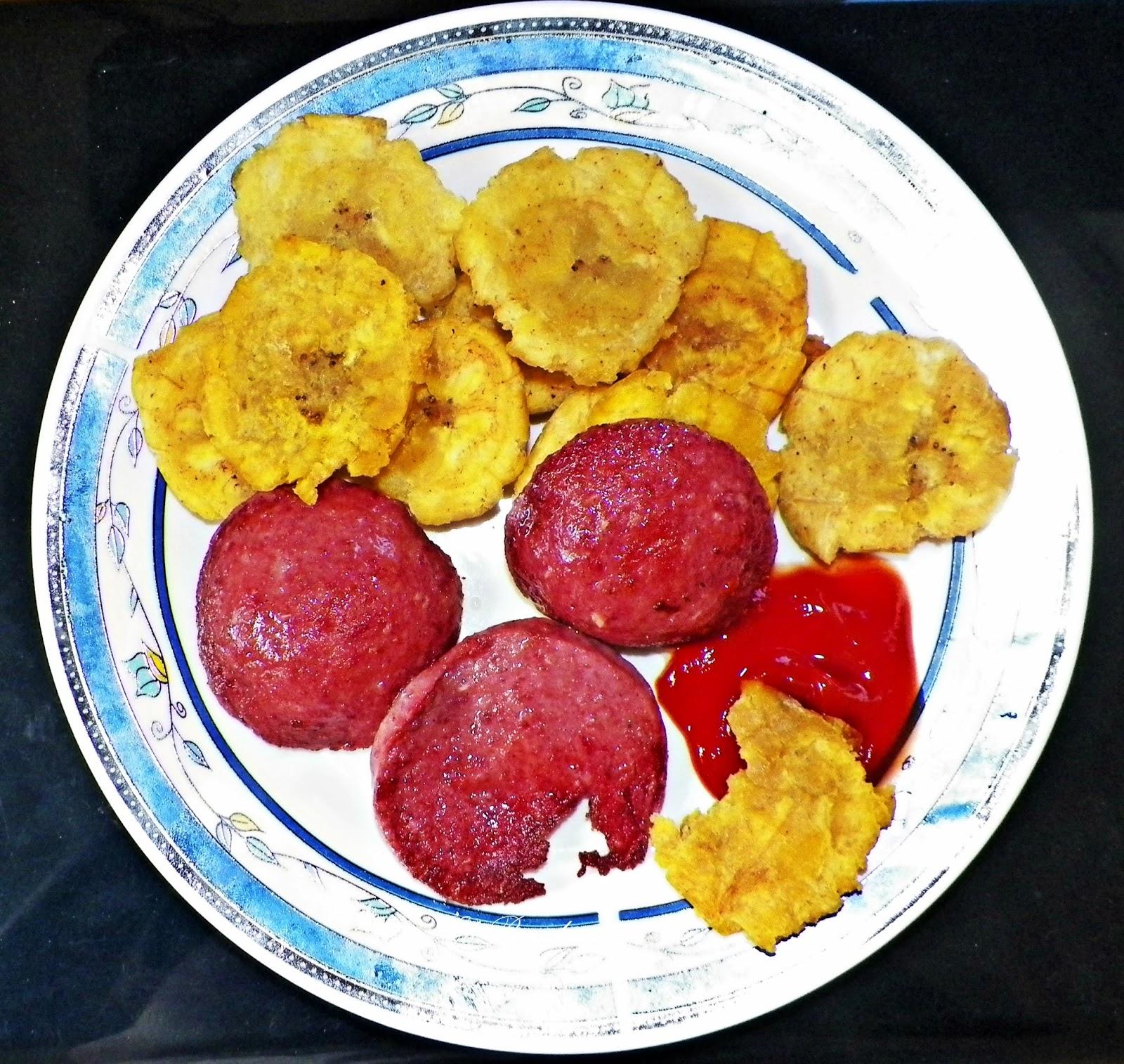 Plátanos Verdes Platanos Fritos With Salami Wwwmiifotoscom