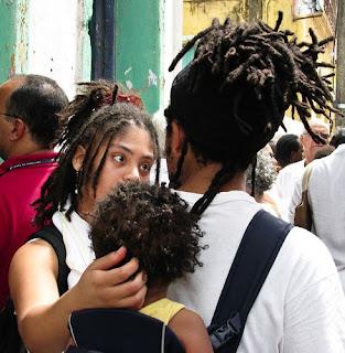 with the family at the festa nossa senhora da boa morte festival