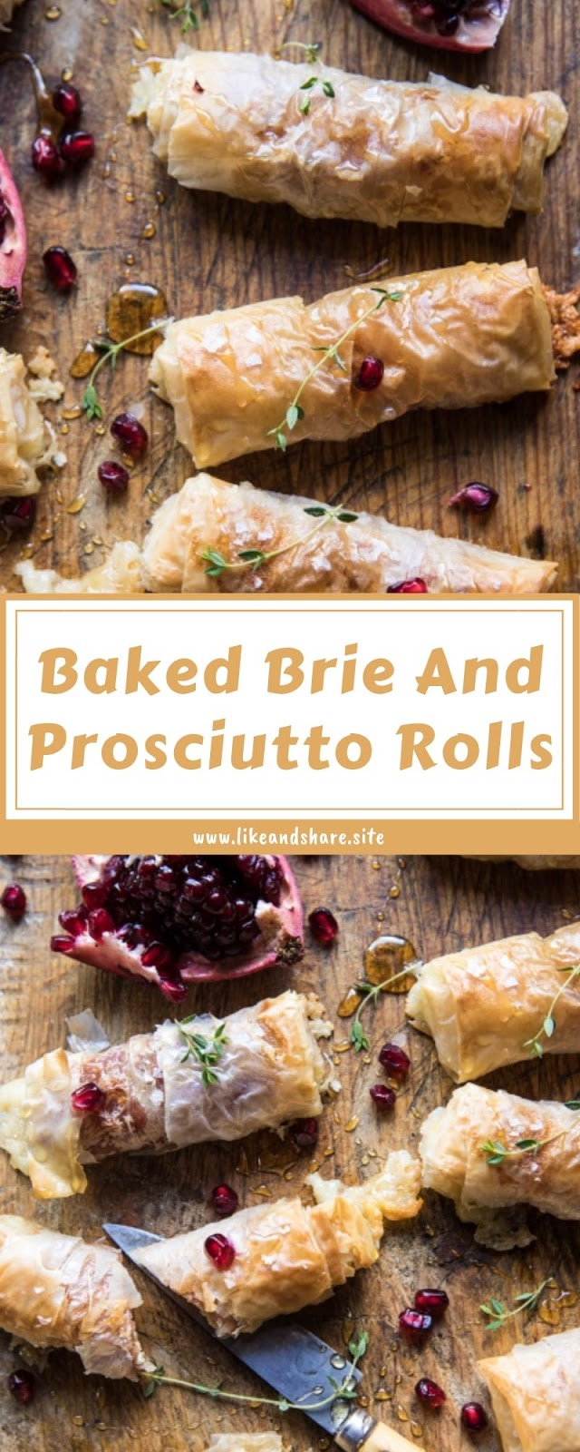 Baked Brie And Prosciutto Rolls