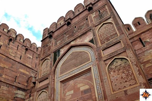 Agra, Agra Fort. Amar Singh Gate