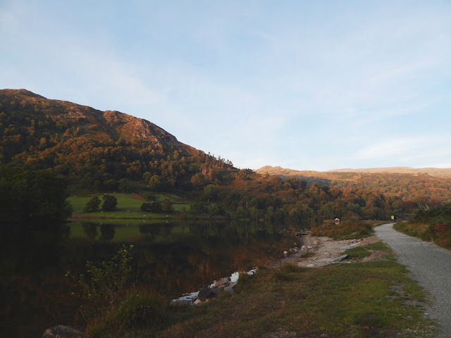 Sunset at Rydal Water in the Lake District, Cumbria