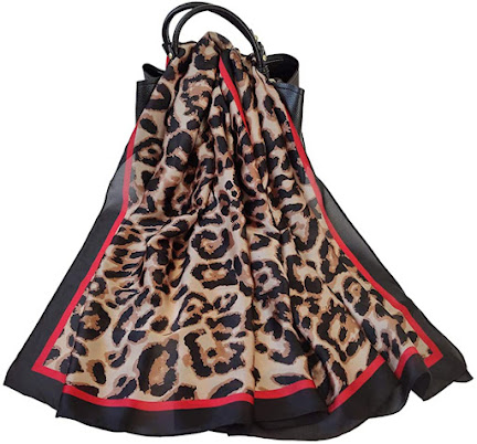 Elegant Leopard Print Chiffon Scarves