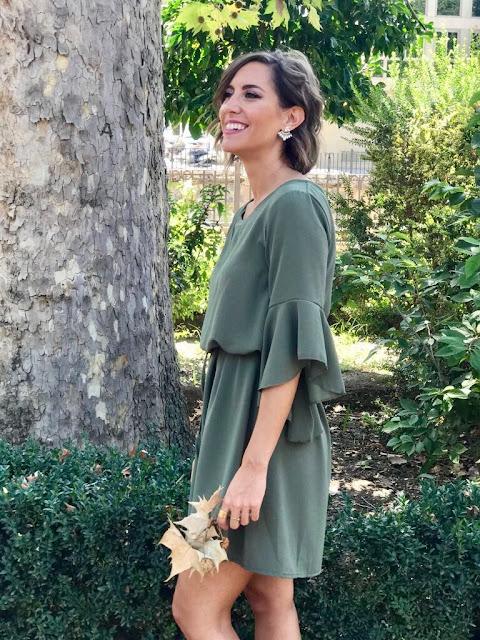 Fitness And Chicness-Vestido Verde Oliva Otoño-3