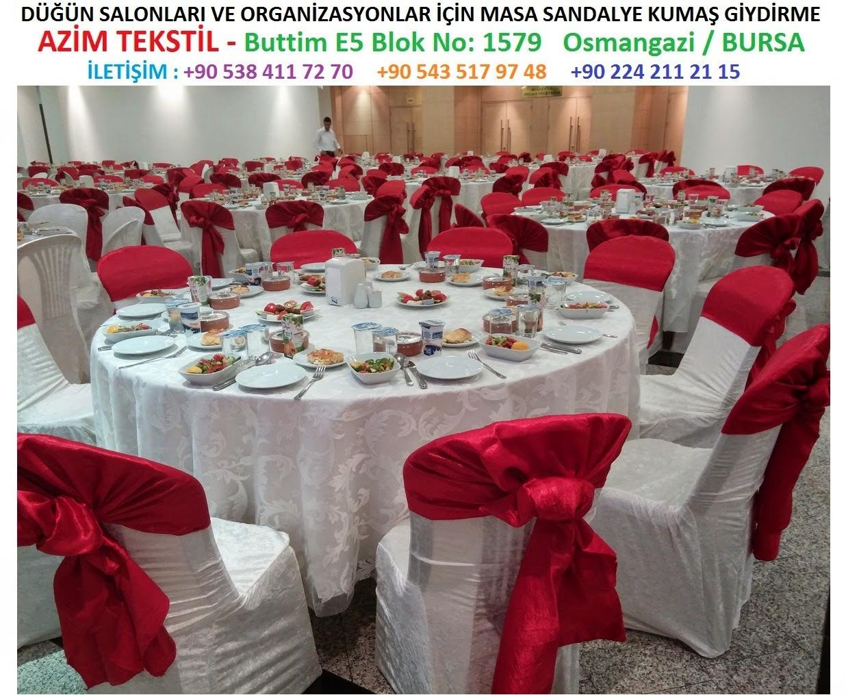 Kırmızı Beyaz masa sandalye giydirme resimleri ve örnekleri