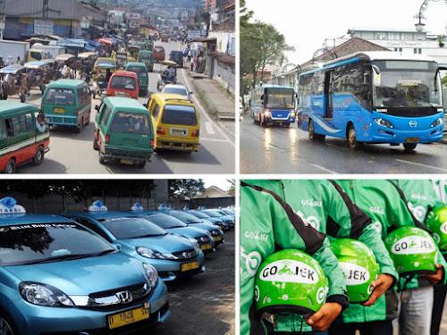 Wisata di Bandung naik angkutan umum