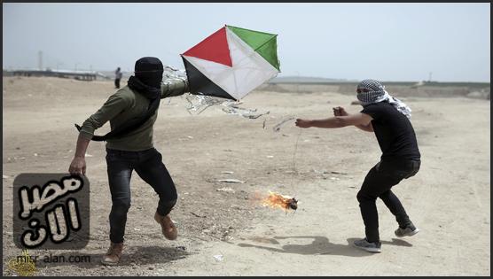 الطائرات الورقية تسبب هلع في إسرائيل