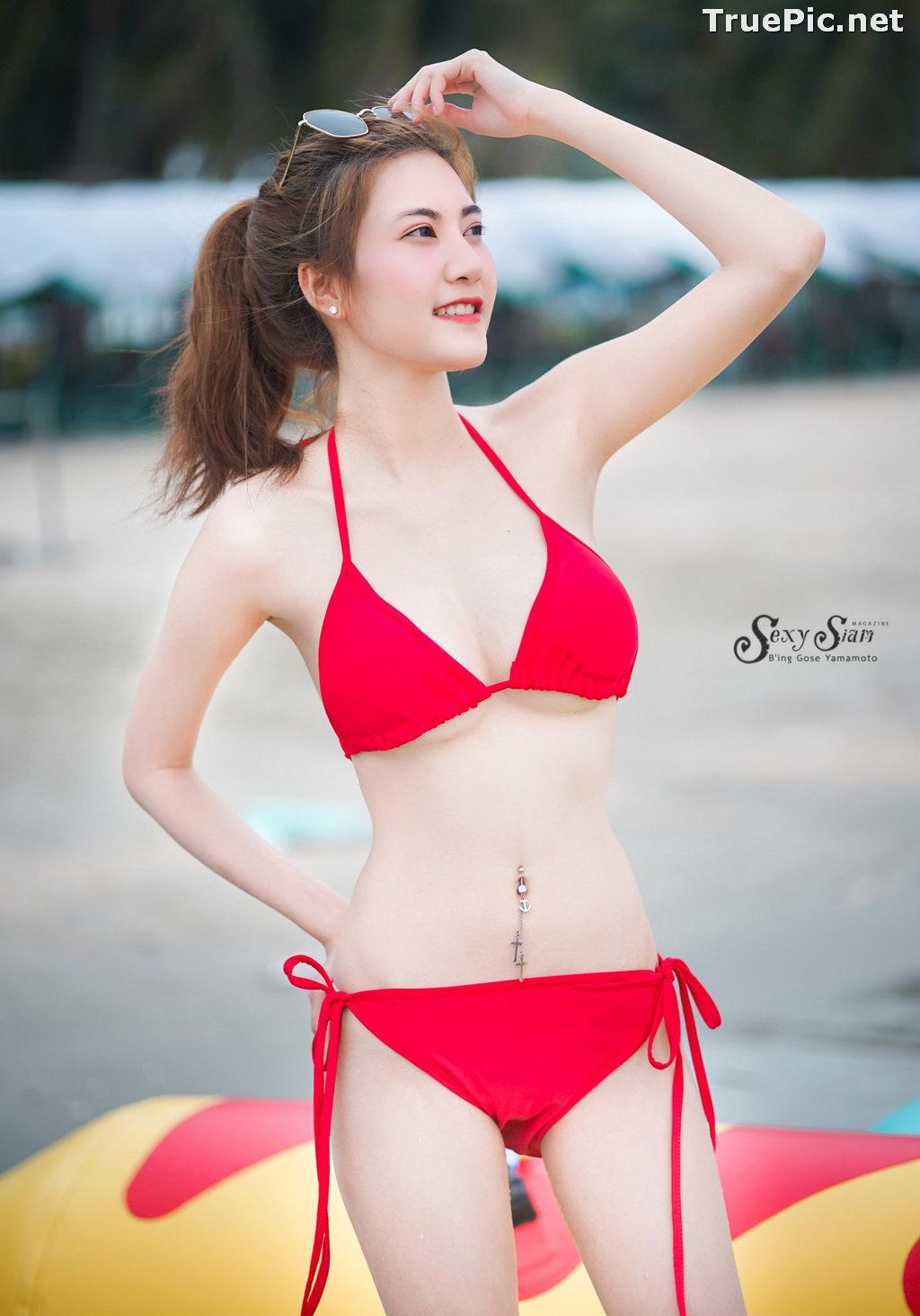 Image Thailand Model - Nitchakan Thongruangkitti - Red Fern Bikini - TruePic.net - Picture-2