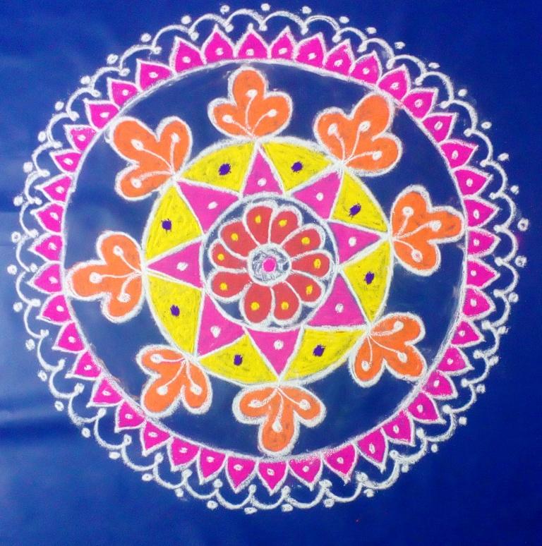 festival kolam saraswathi pooja