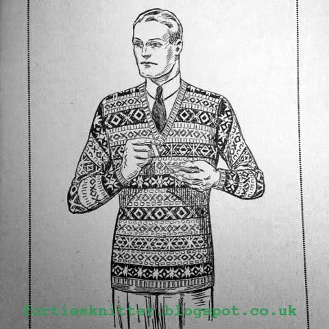 6479e18e1 The Vintage Pattern Files  1930s Knitting - Fair Isle Pullover for Men
