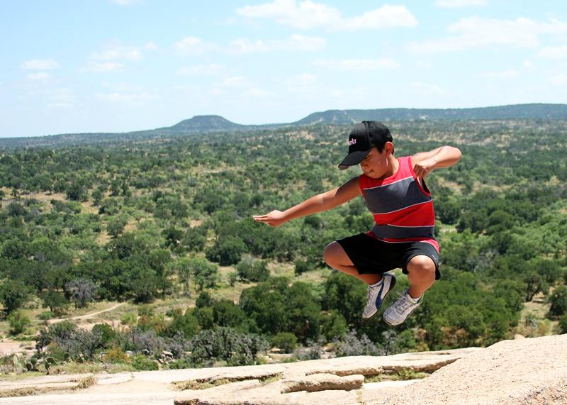Jumping on Enchanted Rock
