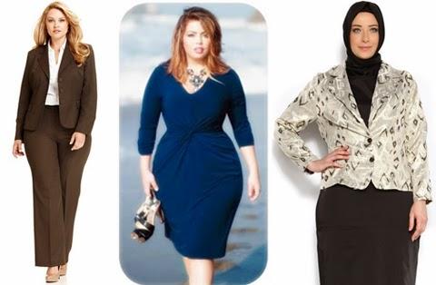 contoh model baju kantor wanita gendut