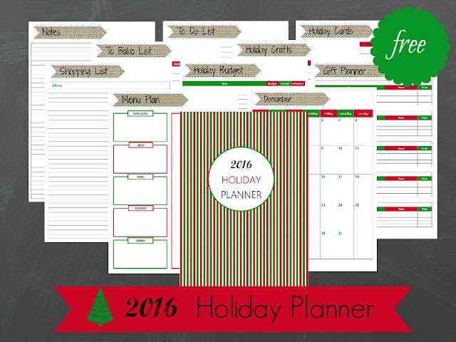 2016 Holiday Planner Free Printable - Ioanna's Notebook