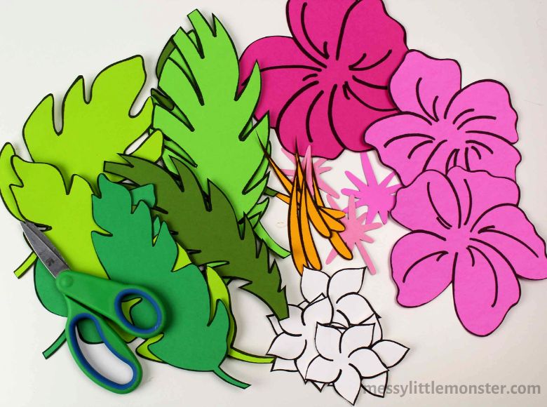 printable flower template for flower craft