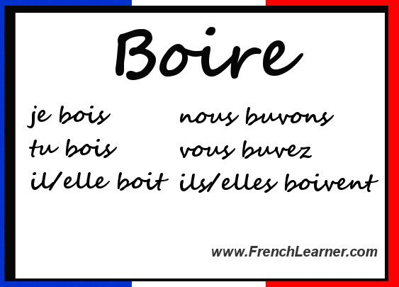 Czasowniki trzeciej grupy - odmiana czasownika boire - Francuski przy kawie