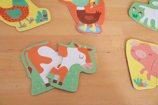 Mes premiers puzzles - les animaux de la ferme - usborne