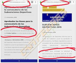 Subvenciones Deportivas Aranjuez 2019