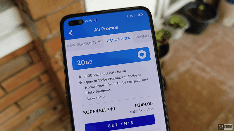 Globe announces Surf4ALL promos with up to 20GB of shared data
