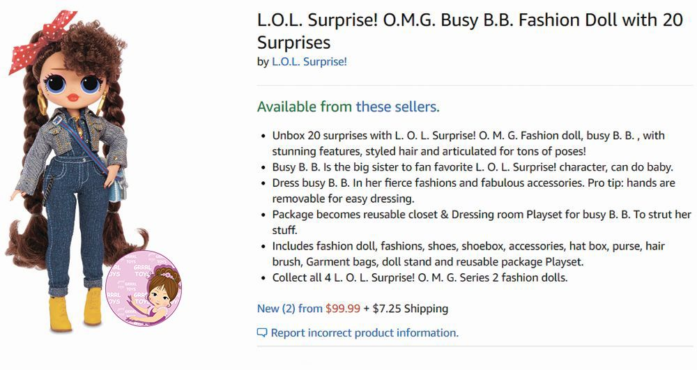 Price on new L.O.L. Surprise O.M.G. series 2 dolls
