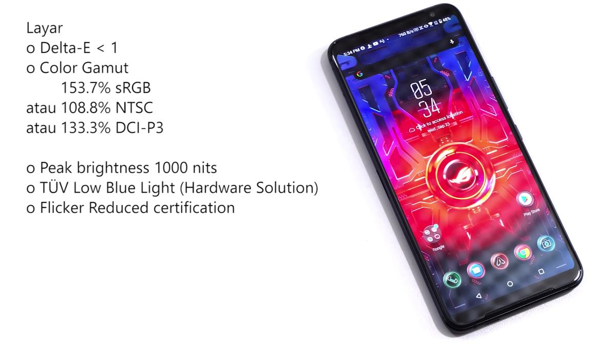 Spesifikasi Layar ASUS ROG Phone 3