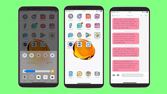 Dwonload Tema (Xiaomi) MIUI Untuk Oppo ColorOs Tembus Sistem Gratis