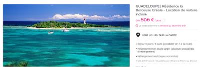 Séjour Guadeloupe avec bungalow et locationvoiture incluse