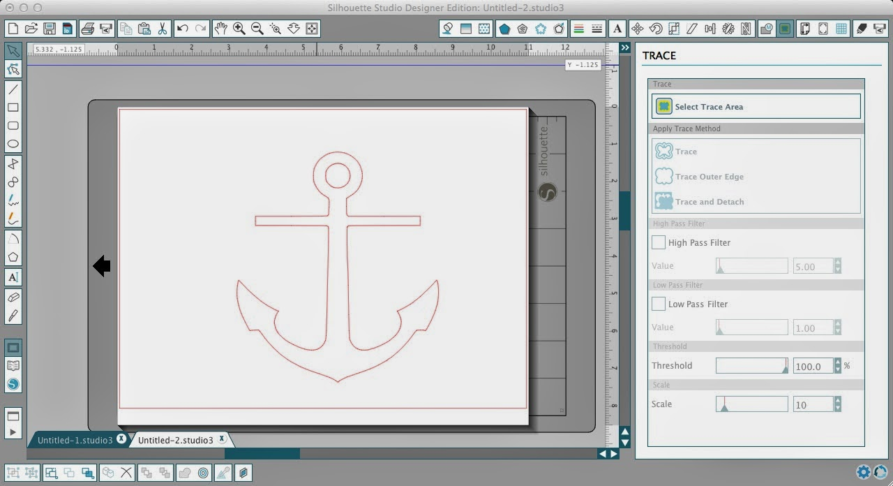 How to Fill a Silhouette Design or Text With a Cuttable Background (Free Studio Cut File), anchor, Silhouette Studio