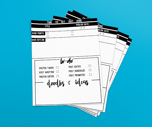 Blog post planner printable || Freebie Friday