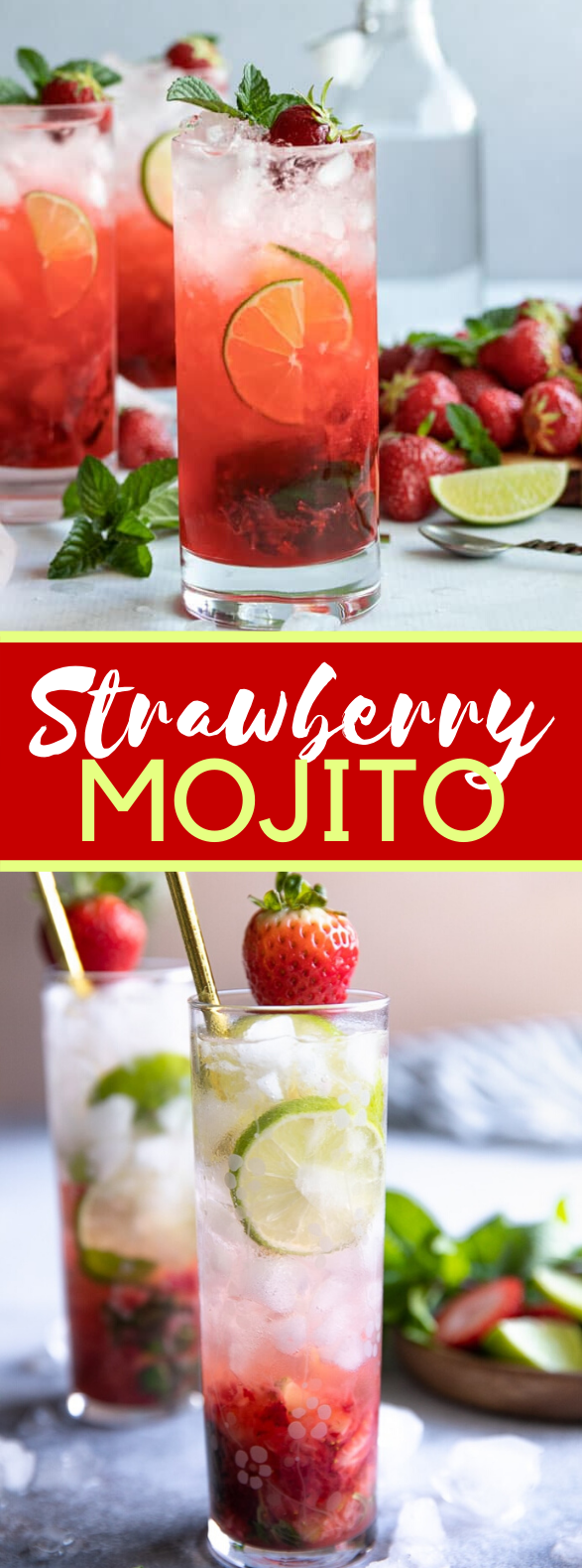 STRAWBERRY MOJITO RECIPE #drinks #cocktails