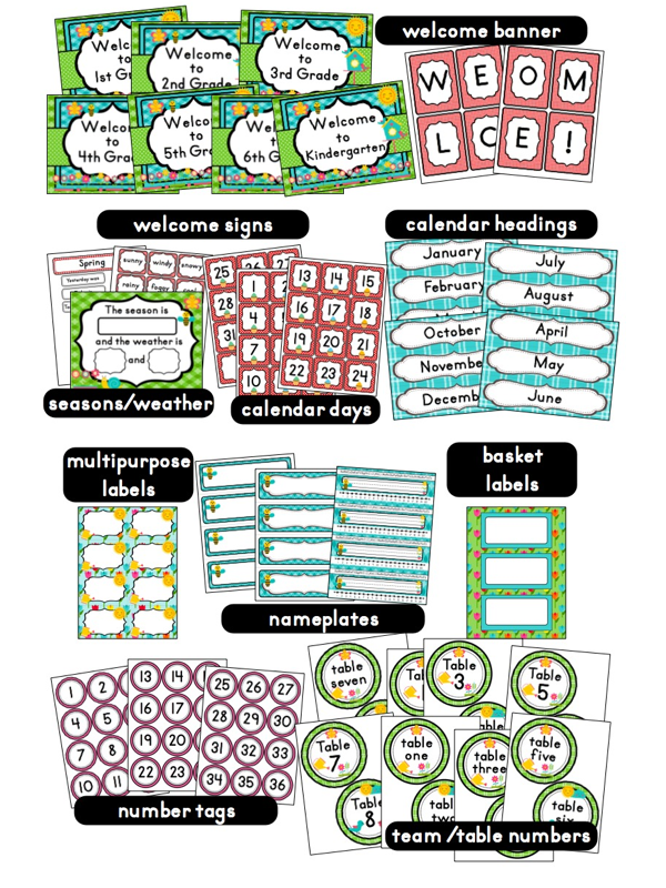Classroom Decorations For Grade 7 ~ Garden themed classroom ideas printable