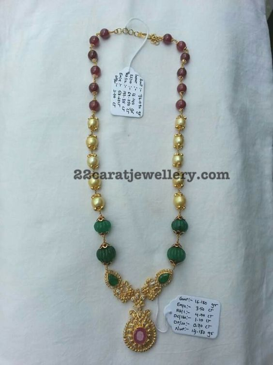 Simple Beads Set with Uncut Pendant