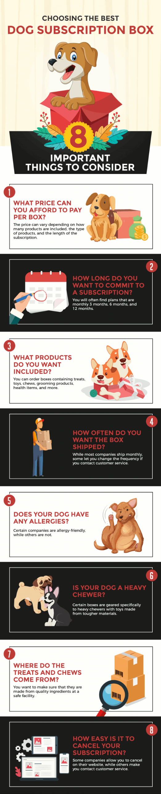 Choosing the Best Dog Subscription Box #infographic