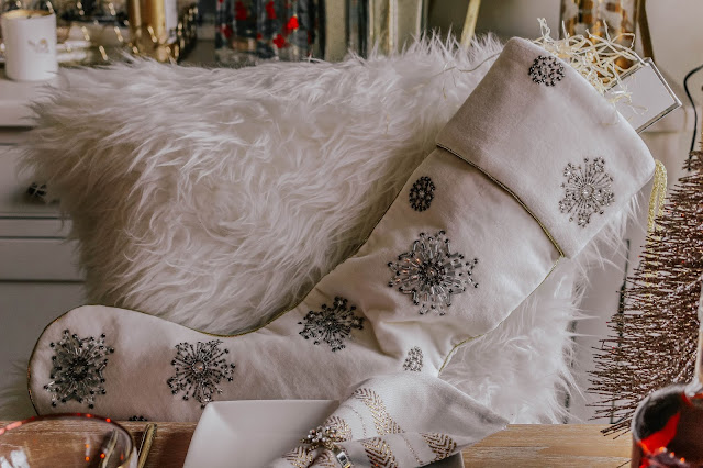 Joanna Buchanan Luxury Christmas Snowflake Stocking