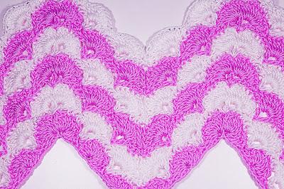 3 - CROCHET IMAGEN Puntada zig zag en abanicos a crochet y ganchillo. Majovel crochet.