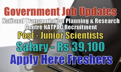 NATPAC Recruitment 2020