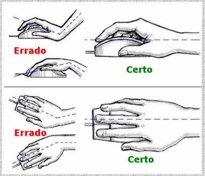 Deixe os braços relaxados e os punhos em posição neutra (sem torções para o lado ou inclinação para cima)