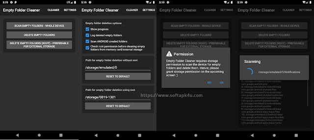 Empty Folder Cleaner ( Android )