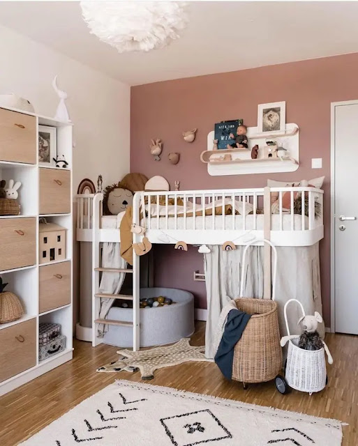 ديكورات غرف نوم اطفال مساحات صغيرة جدا