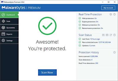 تاسعا فحص جهاز الكمبيوتر من الفيروسات و مسحها