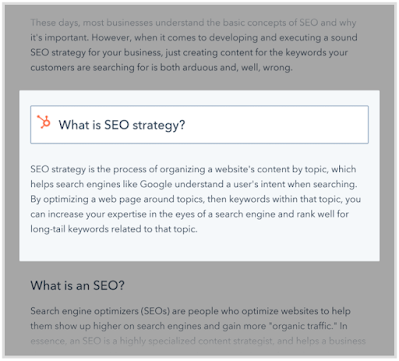 The Definitive Guide To SEO In 2021 - Optimize for Featured Snippets 6