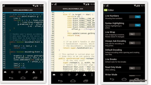 Top 3 Apps for Edit Development Code in Android