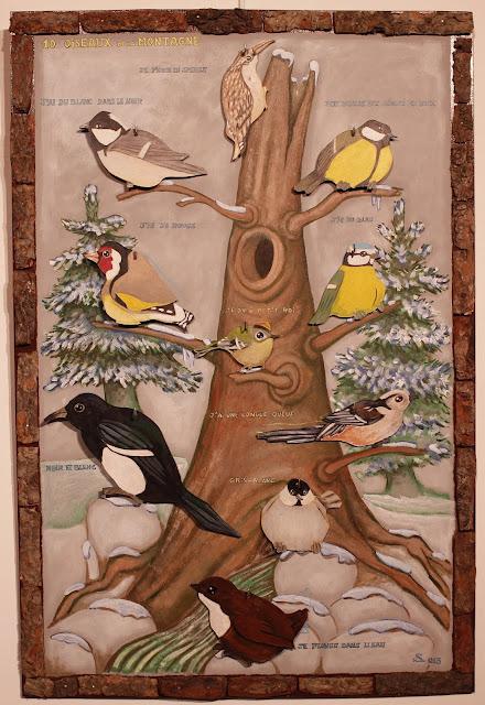 Jeu éducatif avec les oiseaux de montagne