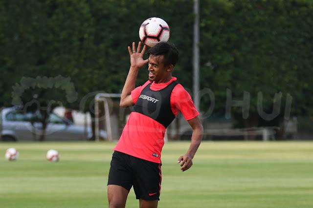 Shakir Hamzah in Singapore National Football Team training in 2019
