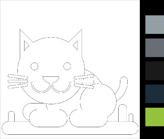 Gambar Mewarnai Hewan Kucing : Download