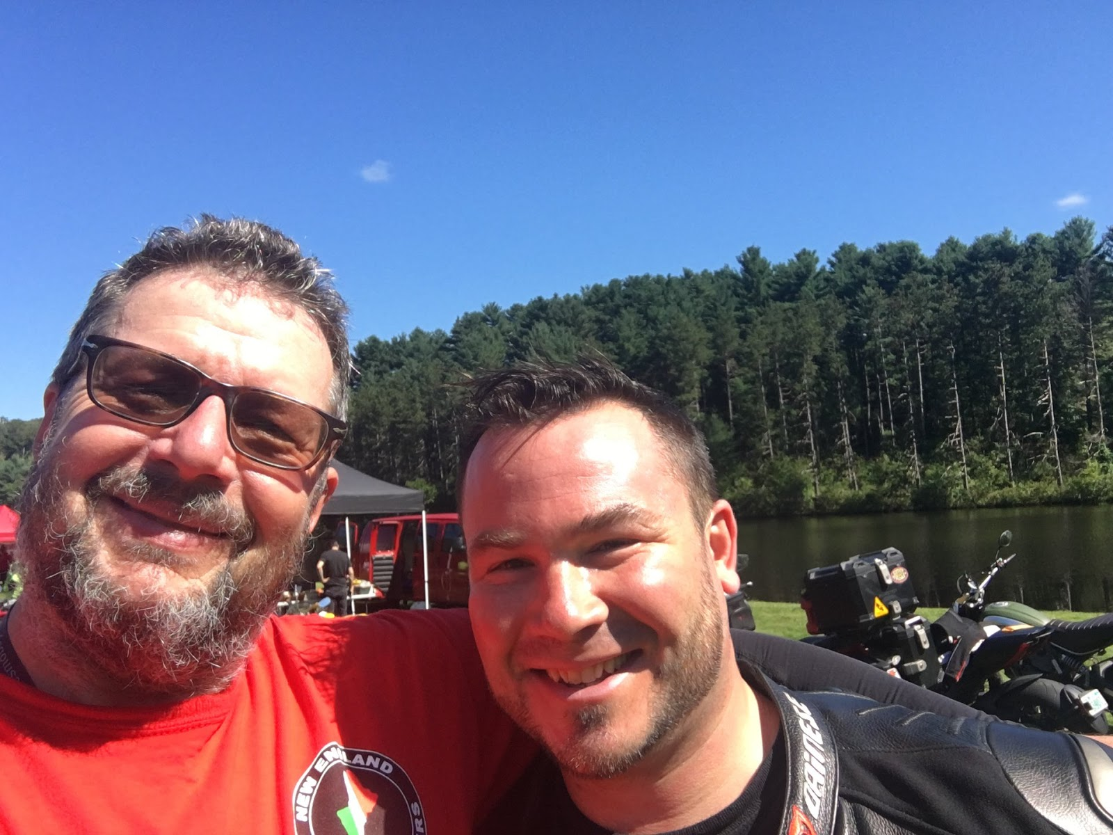 Tigh Loughhead of Gotham Ducati and Ted Gooch of NEDOC New England Desmo