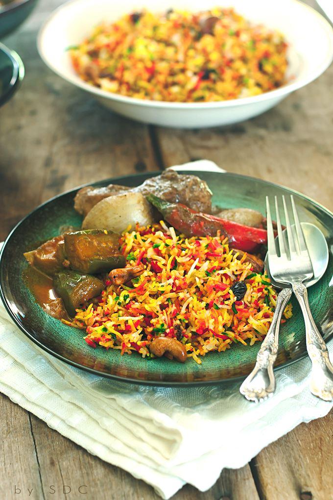 Melley Mey's Kitchen : ~ Resipi Nasi Minyak Hujan Panas Bersama Kari Terung & Ayam Masak Kurma...