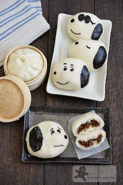 snoopy steamed chicken buns