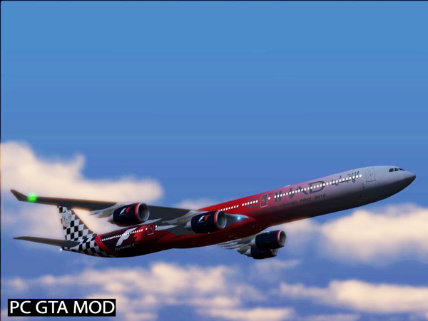 Free Download Airbus A340-600 Updated Mod for GTA San Andreas.