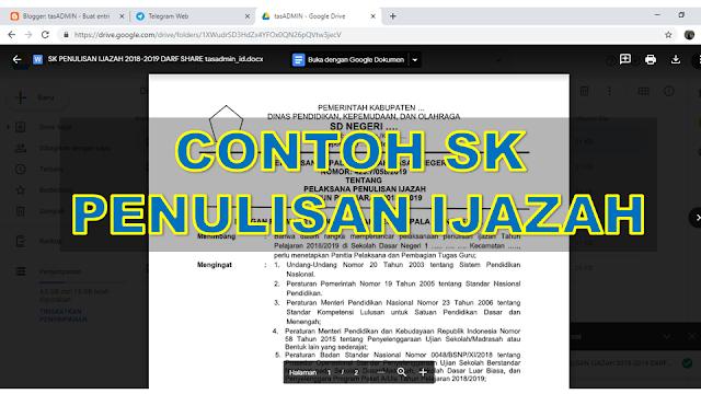 contoh format SK Penulian Ijazah